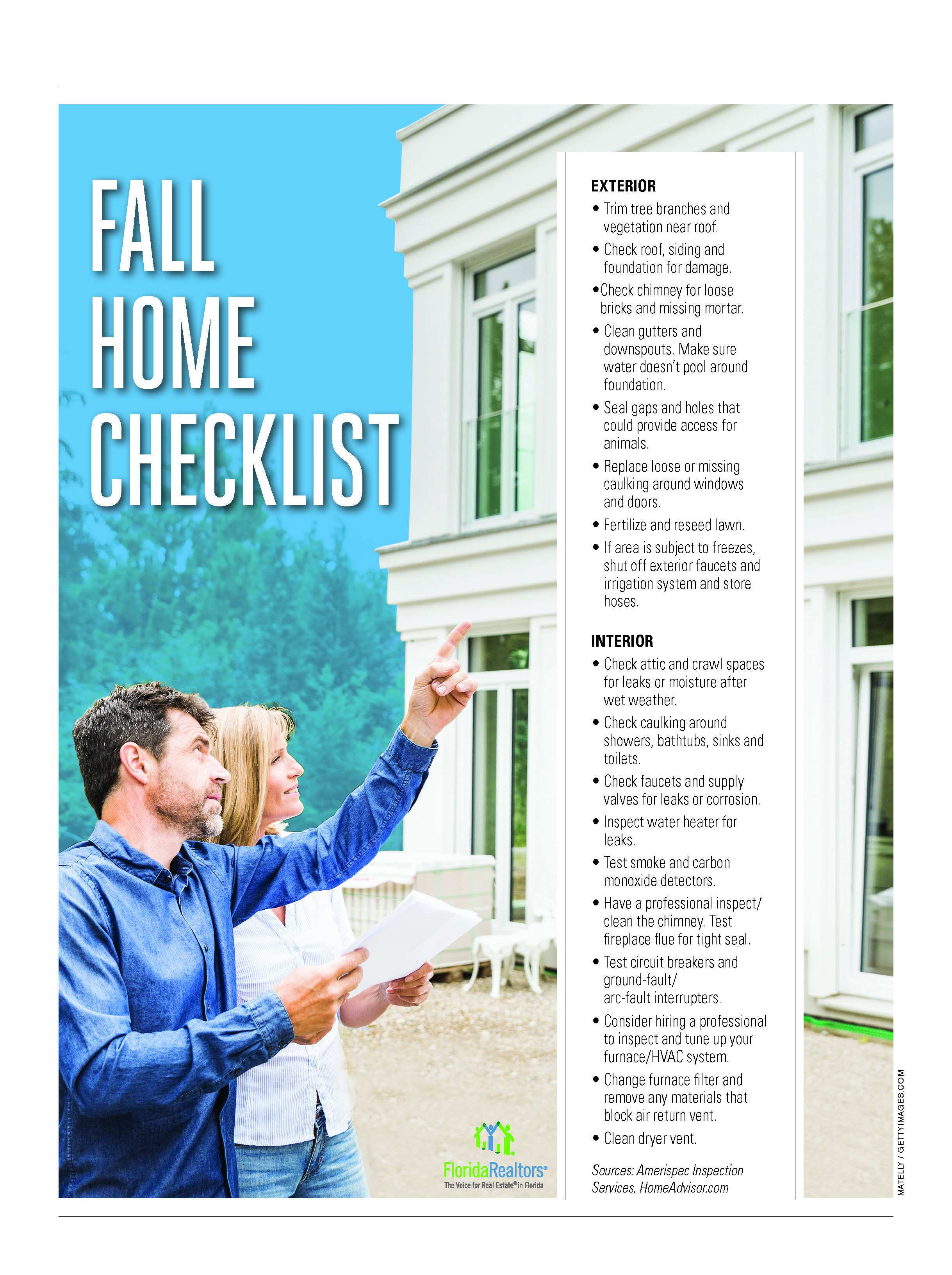Fall Home Checklist